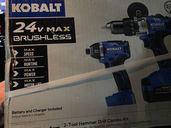 NEW 24v Kobalt Hammer Drill & Impact Driver Cordless 4ah Battery for Sale in Overland Park,  KS