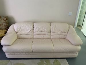 Leather white couches for Sale in Orlando, FL