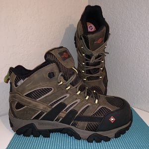Merrell Men's Size 12 Moab 2 Vent Mid Composite Safety Toe Work Boots Hiking Waterproof J15753 *BRAND NEW* for Sale in Chandler, AZ