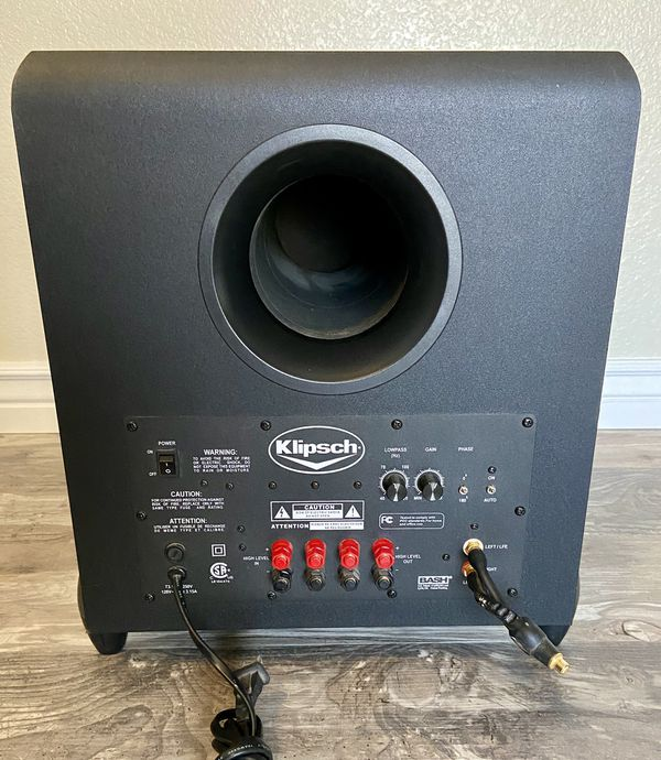 Bose Speakers and Klipsch Powered Subwoofer