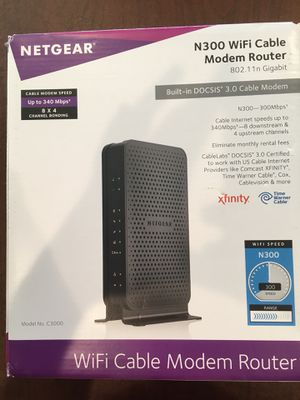 Netgear WiFi Cable Modem Router for Sale in Houston, TX