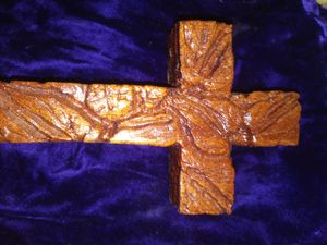Anthurium Hand Carved Cross for Sale in Wahiawa, HI