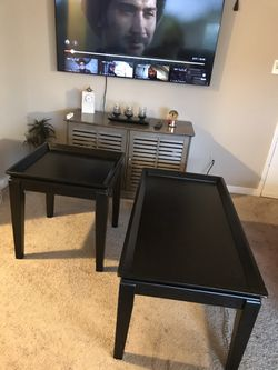 I Have Coffee Table With Two Stand Corner And Also Have a Tv Stand All Looking Like New I'm Moving The End Of This Month for Sale in Alexandria,  VA