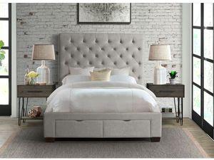 Grey Velvet King Platform Bedframe ONLY $699! for Sale in Springdale, AR