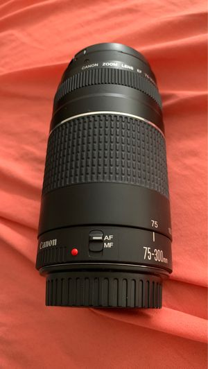 Canon Lens 75-300mm for Sale in OSBORNVILLE, NJ
