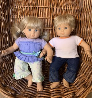 American Girl Bitty Twins Dolls - Blond Boy and Girl with outfits for Sale in Phoenix, AZ