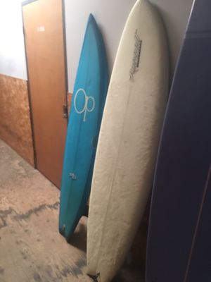 "6'2"" Twin fin fiberglass / 6'4"" 3skagg Russell surfboard for Sale in Huntington Beach, CA"