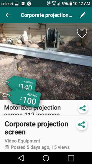 Commercial projection screen motorized for Sale in Phoenix, AZ