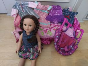 My life doll, 4 extra outfits, bed, chair for Sale in San Diego, CA