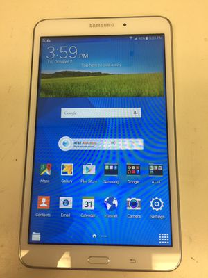 Samsung galaxy tab 4 16gb wifi & cellular att with charger for Sale in Houston, TX