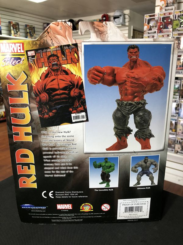 "Marvel Select Red Hulk Diamond Select Marvel 7"" Inch"