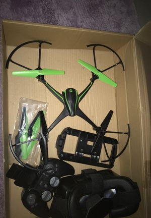 Drone with camera, high depth 4k, vr headset and controller with phone stand. auto pilot and extra blades for Sale in Wooster, OH
