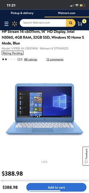 HP STREAM LAPTOP WINDOWS 10 for Sale in Thomasville, NC