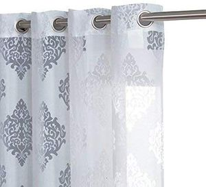 Like New Damask Style Sheer Curtain for Sale in Washington, DC
