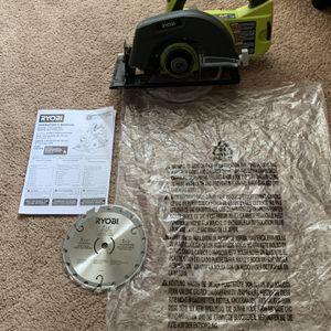 "Brand new Ryobi 5 1/2"" 18V circular saw and blade for Sale in Philadelphia, PA"