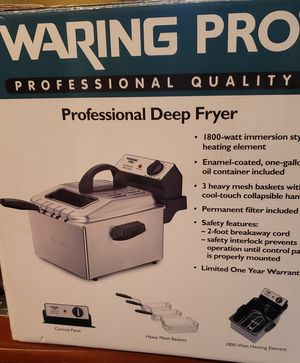 Waring Pro, Professional Deep Fryer for Sale in East Hartford, CT