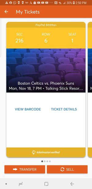 Phoenix Suns vs Boston CELTICS for Sale in Phoenix, AZ