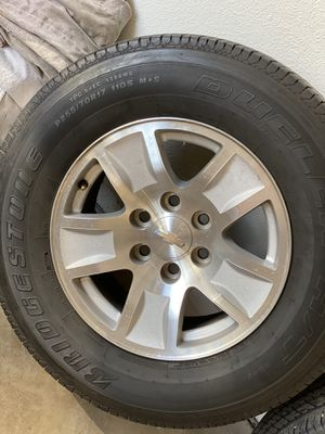 Tires and rims Chevy truck for Sale in Phoenix, AZ