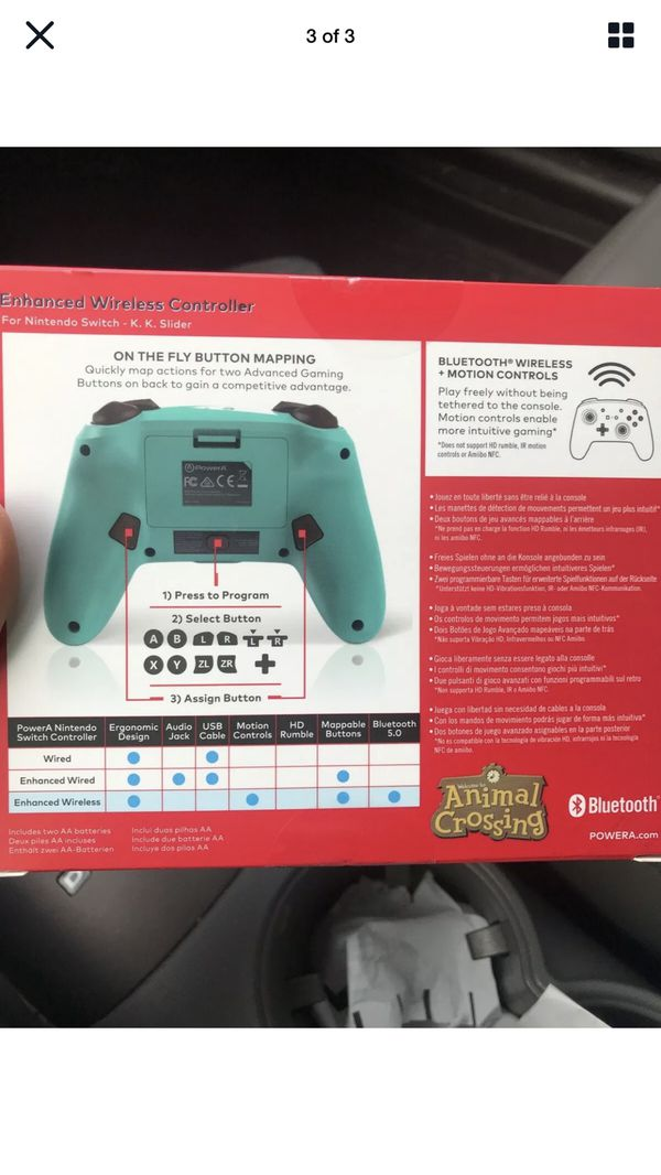 PowerA Enhanced Wireless Animal Crossing Nintendo Switch KK Slider -*IN HAND*