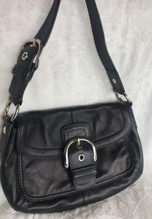 "Coach Soho * F13105 Buckle Flap Black Leather Shoulder Bag 12""L x 4""W x 7""H for Sale in Winter Springs, FL"