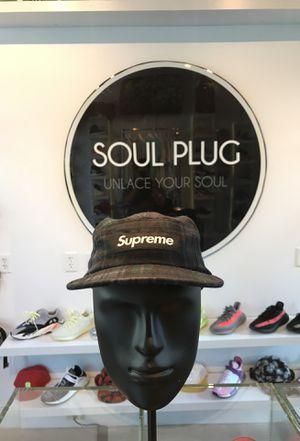 Supreme X Plaid Camp Hat Black for Sale in Miami, FL