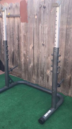 FULLY ADJUSTABLE WEIGHT RACK PLUS MORE for Sale in San Diego, CA