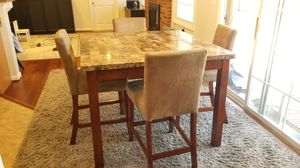 Square Granite High Table with 4 Chairs for Sale in Chantilly, VA