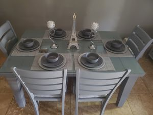 Dining Set with Table and Bench, Gray, for Sale in Anaheim, CA