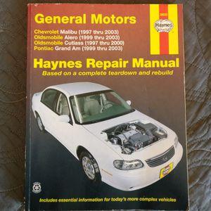 Haynes Repair Manual (Malibu, Alero, Cutlass, Grand Am) for Sale in Boca Raton, FL