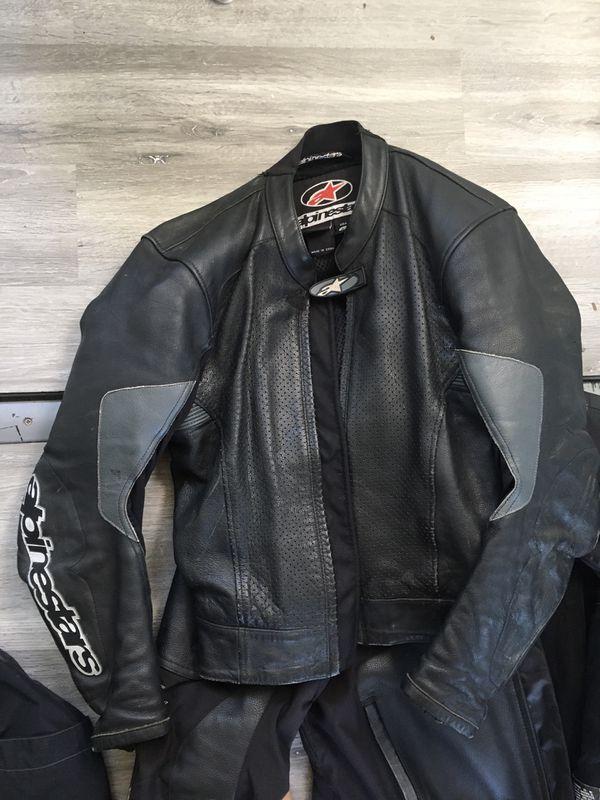 Leather motorcycle jacket medium Alpinestars