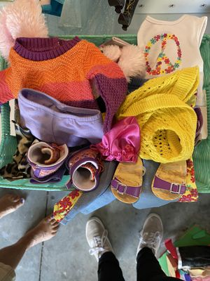 Basket of doll clothes for Sale in Davenport, FL