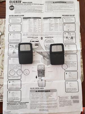 Universal Garage Door remote controls for Sale in Orlando, FL
