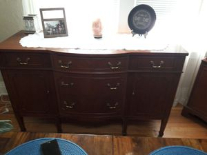 Antique cherry wood buffet and china cabinet for Sale in Grosse Ile Township, MI