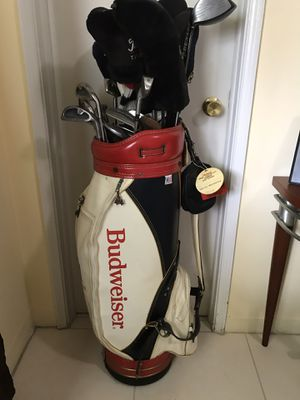 Vintage leather Golf Bag full of clubs for Sale in Fort Lauderdale, FL