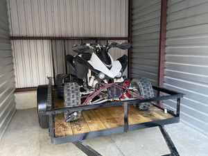 Kfx 450r with trailer!!! This bike beats raptors hands down I am the third owner and have all the receipts from last owners for Sale in Marlow Heights, MD