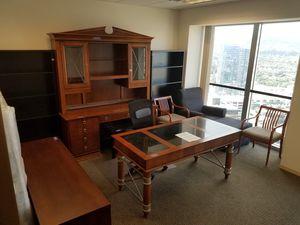 "Hooker ""Delphi"" Marble top desk + hutch + credenza for Sale in Hidden Hills, CA"