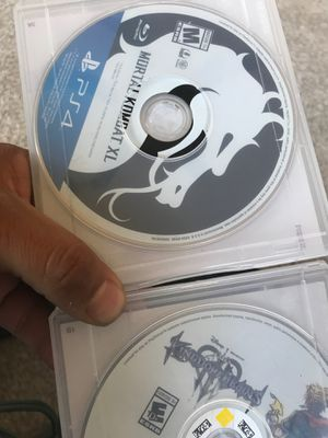 Selling two ps4 games mortal kombat XL and kingdom hearts for Sale in Denver, CO