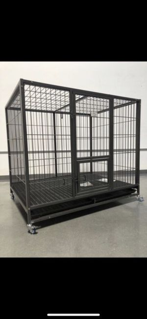 """50"""" Super duty huge Cage crate kennel playpen pet dog with ABS plastic floor new in factory sealed box🐶 see dimensions in second picture on posting🇺🇸 for Sale in Las Vegas, NV"""