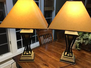 Lamps (pair of lamps with shades) for Sale in Gaithersburg, MD