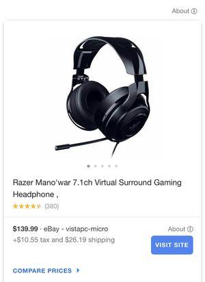 Razer Mano'war Surround Gaming Headphone for Sale in Watertown, CT