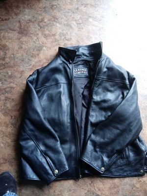Leather limited jacket motocycle for Sale in Virginia Beach, VA