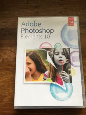 Adobe photoshop elements 10 for Sale in Portland, OR