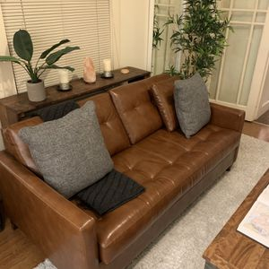 Mid Century Modern Leather Couch for Sale in Portland, OR