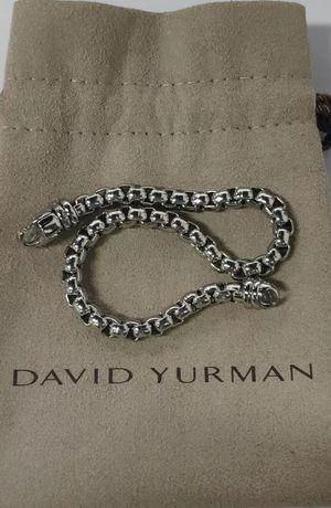 David Yurman Sterling Silver 5mm Box Chain Lobster Lock Bracelet for Sale in Tampa, FL