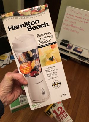Hamilton Beach personal creations blender with travel lid for Sale in Seattle, WA