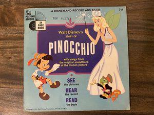 Vintage Disneyland Record And Book Pinocchio for Sale in Gadsden, AL