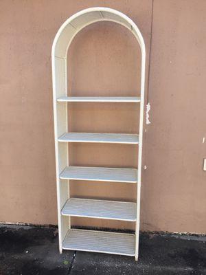 Wicker 5-shelf bookcase for Sale in Clearwater, FL
