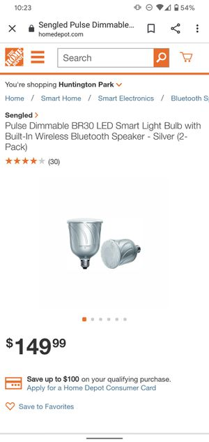 Bluetooth speaker dimmable LED light Sengled Pulse for Sale in Los Angeles, CA