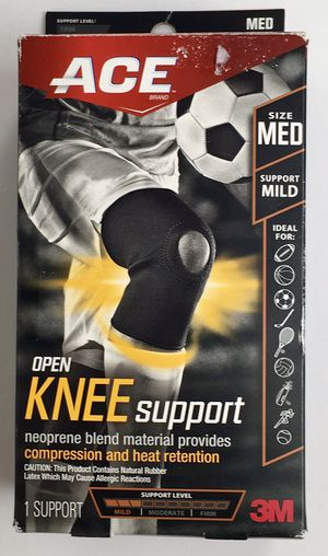 New ACE Brand Open Knee Support Medium Black 1 Pack (Tarpon Springs) for Sale in Tarpon Springs, FL