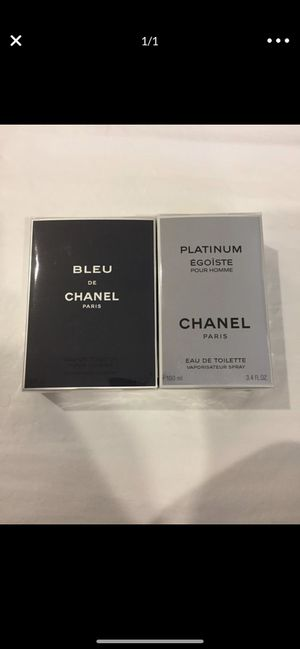 Perfume Chanel 3.4&3.4oz for men's for Sale in SeaTac, WA